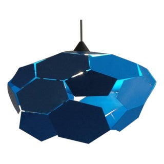 Blue Thunderball Pendant Light