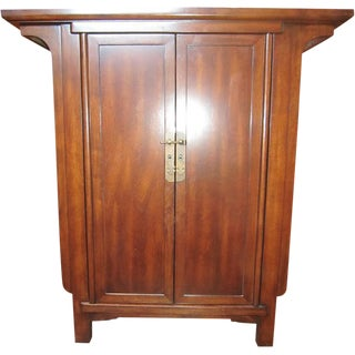 Chinese Narrow Cabinet with Doors & Drawers