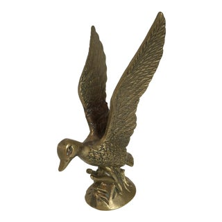 Vintage Brass Flying Duck