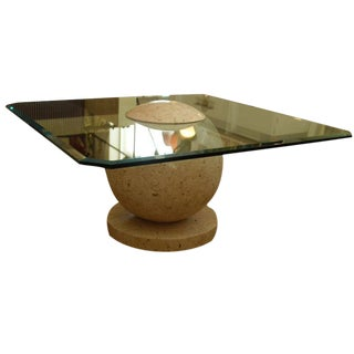 1960s Tessellated Marble Sphere Coffee Table