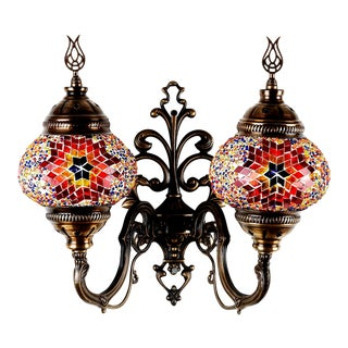 Turkish Handmade Mosaic Double Wall Sconce