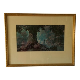 Dreaming Framed N. Y. P. C. Lithograph by Maxfield Parrish
