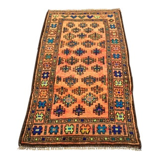 "Vintage Anatolian Turkish Small Area Rug- 2'8"" x 4'10"""