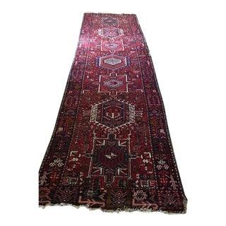 "Antique Handwoven Persian Runner - 3'6"" x 11'6"""