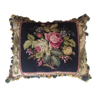 Vintage Barbara Sims Floral Pillow