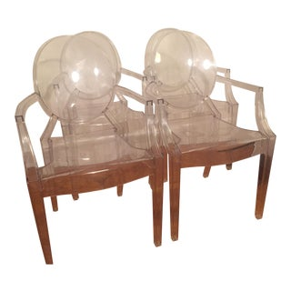 Philippe Starck Kartell Louis Ghost Chairs - Set of 4