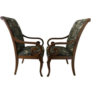 Excalibur Upholstered Arm Chairs - A Pair