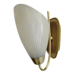 Mid-Century Gold Mesh Wall Sconce