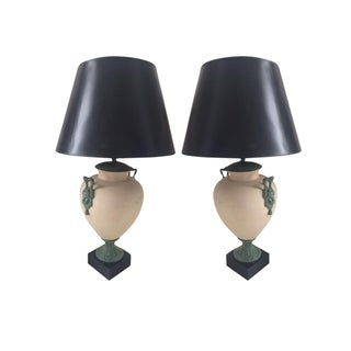 MCM Lamps With Medusa Medallions - Pair