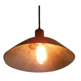 Japanese Brown Bowl Pendant Light