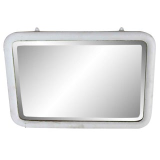 Light Blue Cabinet Mirror With Beveled Glass