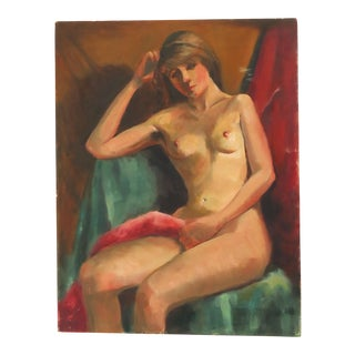 1970s Estelle Bernstein Nude Painting