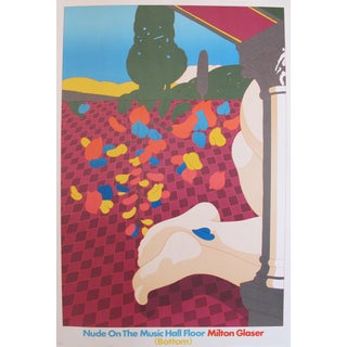 1978 Original American Nude on the Music Hall Floor Poster by Milton Glaser