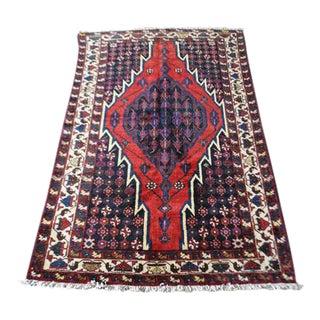 Persian Handmade Mazlaghan Rug - 3′2″ × 6′3″