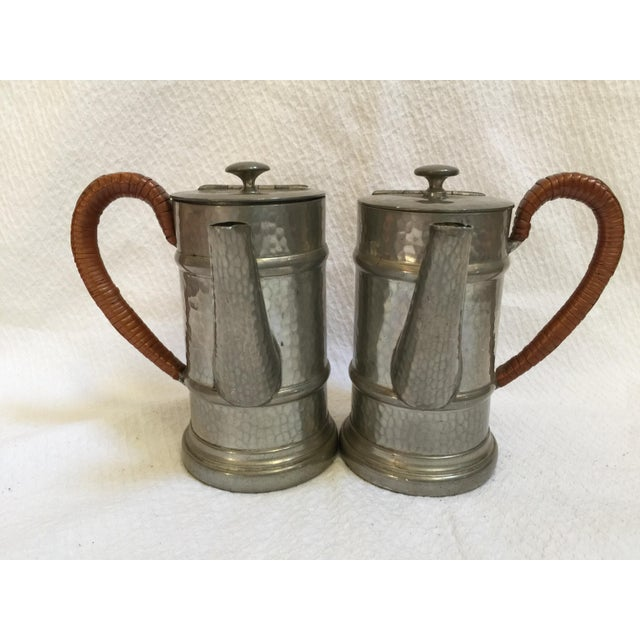 English Pewter Coffee Pots - A Pair - Image 3 of 9