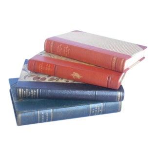 Vintage Leather Bound Books - Set of 4