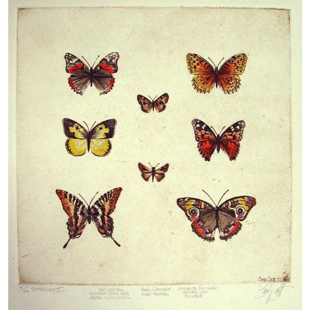 Sandy Scott Etching - Butterflies II - Image 1 of 4