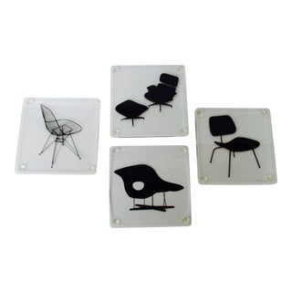 Museum of Modern Art Eames Lucite Chairs Coasters - Set of 4