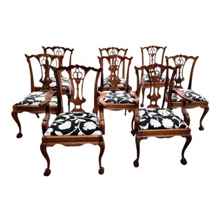 Chippendale Claw Foot and Ball Dining Chairs - Set of 8