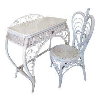 Fiddlee Wicker Head Desk & Chair