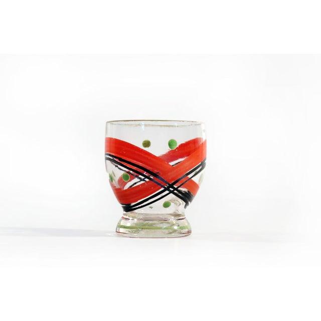 Czech Glass Decanter Set - Set of 7 - Image 4 of 6