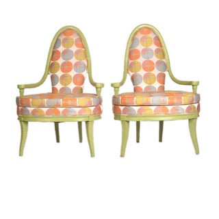 Retro Pop Lime Chairs - A Pair