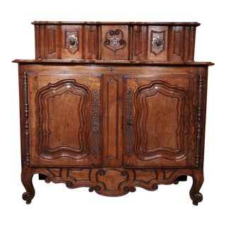 Early 18th century French Carved Walnut Buffet