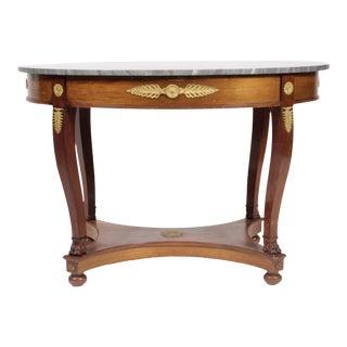 Vintage Regency-Style Marble Top Table
