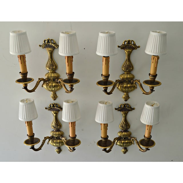 French Boudoir Sconces - Set of 4 - Image 5 of 8