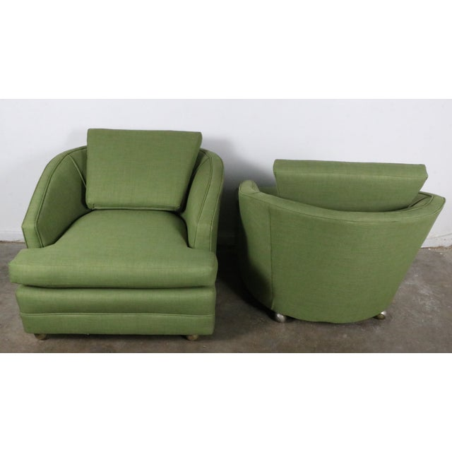 Image of 1960s Green Lounge Chairs – Pair