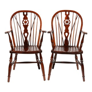 1910 Antique Dutch Windsor Chairs - A Pair