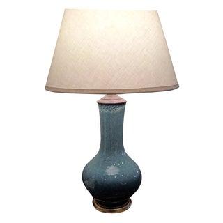 Powder Blue Stippled Vase Table Lamp