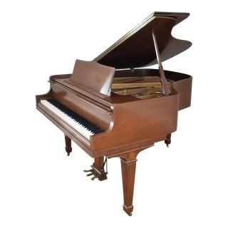 Fine 1970 Walnut Case Wm Knabe Baby Grand Piano ~ 5' Serial #179302