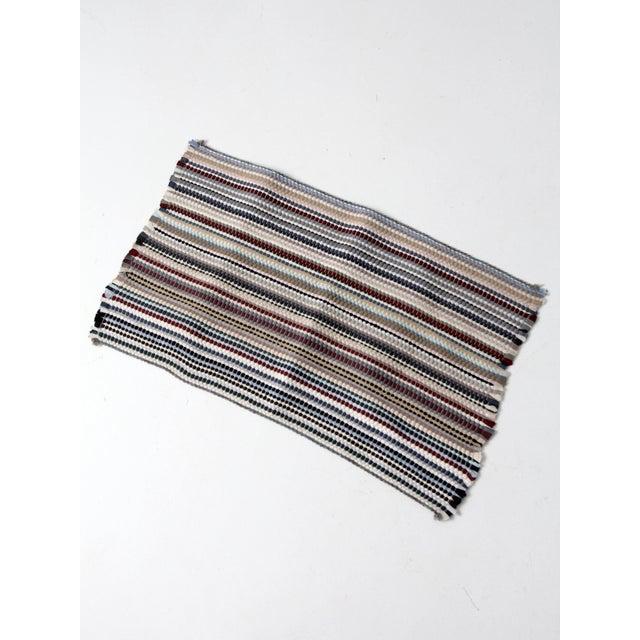 Vintage Rag Rug Floor Mat - 1′7″ × 2′8″