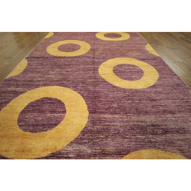 Modern purple gabbeh area rug 5 39 7 x 8 39 2 chairish for Purple area rugs contemporary