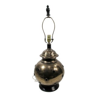 Moroccan Style Jeweled Brass Table Lamp