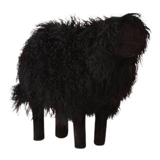 Large Lalanne Style Black Tibetan Lamb Sheep