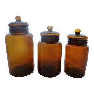 Mid Century Modern Apothecary Jars - Set of 3
