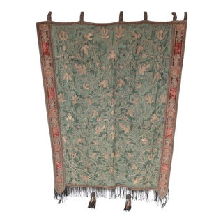 Antique Silk & Velvet Tapestry