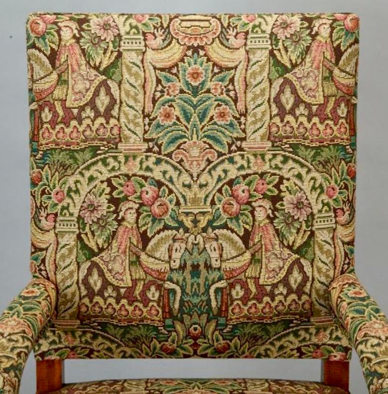19th century antique french bergere covered in old world