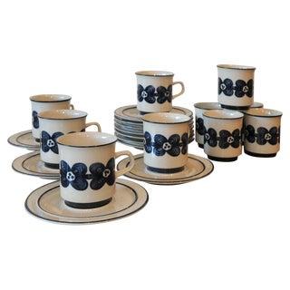 Mid-Century Design Four Cobalt Mugs & Saucers - 10
