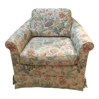 Baker Furniture Floral Armchair