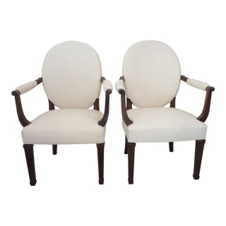 Rosewood Armchairs - a Pair