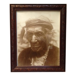 Old Navajo Man Framed Photograph