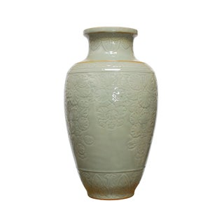 Chinese Longquan Style Celadon Vase