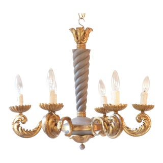 French Rococo Iron Chandelier