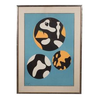 "Jean Arp ""De La Famille Des Etoiles"" 'A. 359' Lithograph Printed in Colors, 1965"