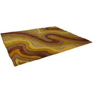Edward Fields Mid Century Swirl Rug - 9′11″ × 12′