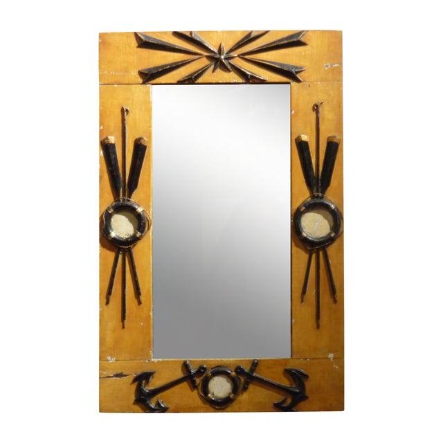 Folk Art Nautical Mirror - Image 1 of 4