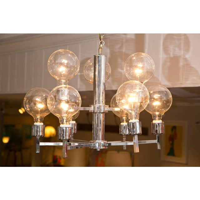 Mid-Century Modern Chrome Chandelier - Image 5 of 6